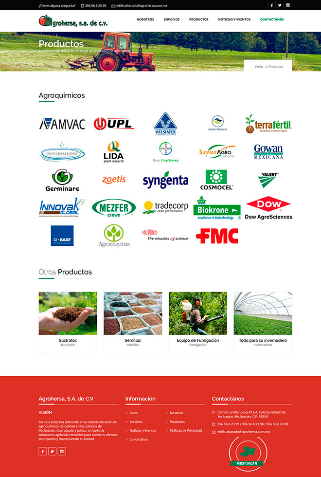 Red Core Technologies SC Agrohersa Productos