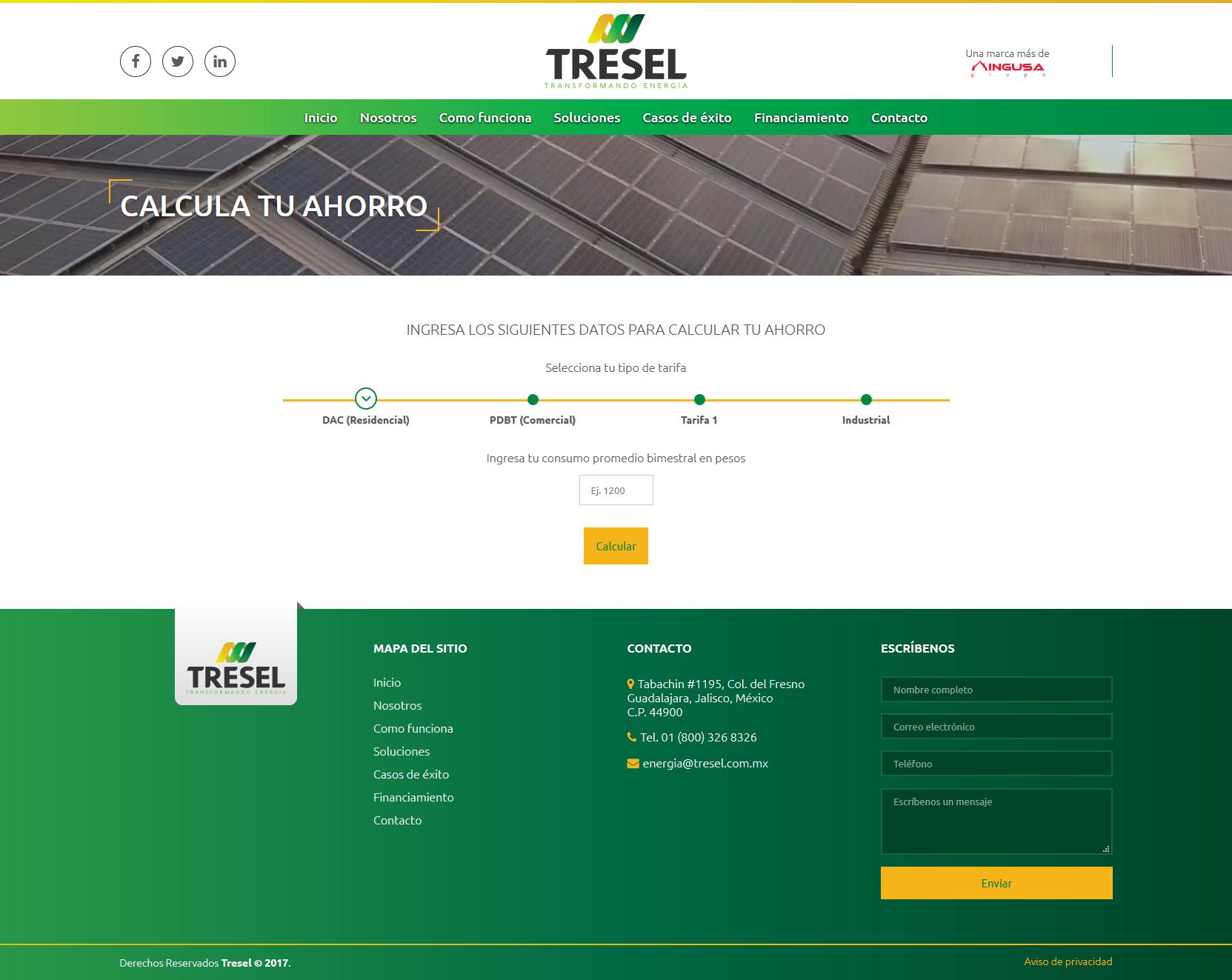 Red Core Technologies SC Tresel  Calcula tu Financiamiento